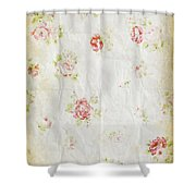 Flower Pattern Retro Design Shower Curtain by Setsiri Silapasuwanchai