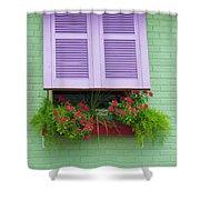 Flower Pot Window Shower Curtain