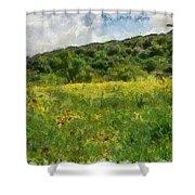 Flowering Fields Shower Curtain
