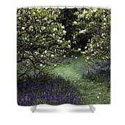 Flowering Trees Amid A Meadow Full Shower Curtain