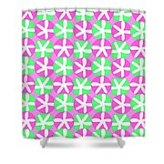 Flowers And Spots  Shower Curtain