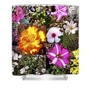 Flowers In Stephanie's Garden Shower Curtain
