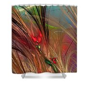 Flowers In The Grass Shower Curtain