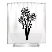Flowers In Type Shower Curtain