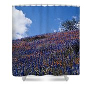 Flowers On A Hill Shower Curtain