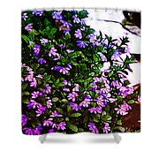 Flowers On The Hill Shower Curtain