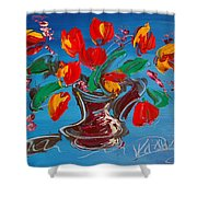 Flowers Tulips Shower Curtain