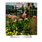 Flowerscape  Shower Curtain