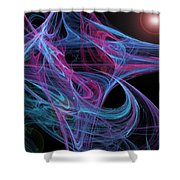 Flowing Energy II Shower Curtain