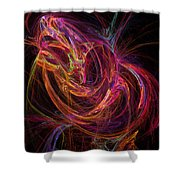 Flowing Energy Shower Curtain