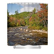 Flowing Into Autumn Shower Curtain