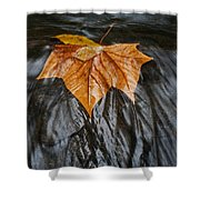 Flowing Leaf Shower Curtain