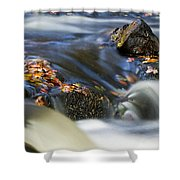 Flowing River IIi Shower Curtain