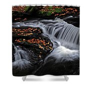 Flowing Through Fall Color Shower Curtain