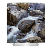 Flowing Water Down The Colorado St Vrain River Shower Curtain