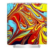 Fluid Abstracts 2011 Shower Curtain