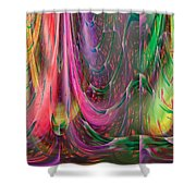 Fluidic Space Shower Curtain