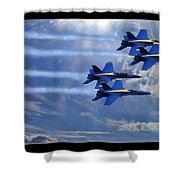 Fly The Skys Blue Angels Shower Curtain