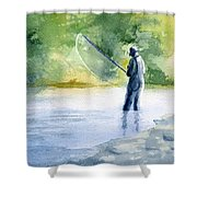 Flyfishing Shower Curtain