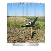 Flying Baby Pandas. North Dakota. Shower Curtain