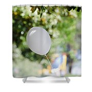 Flying Balloon Shower Curtain