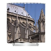 Flying Buttress At Nortre Dame Cathedral Shower Curtain