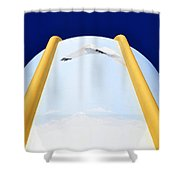 Flying Ibis Shower Curtain