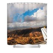 Flying Over Spanish Land IIi Shower Curtain
