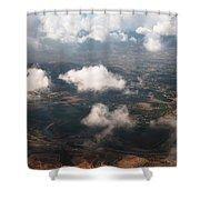 Flying Over Spanish Land Iv Shower Curtain