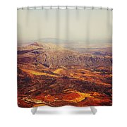 Flying Over Spanish Land Shower Curtain