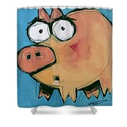 Flying Pig 1 Shower Curtain