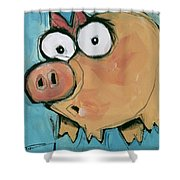 Flying Pig 2 Shower Curtain