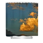 Flying With The Clouds Shower Curtain