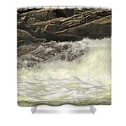 Foamy Cascade Shower Curtain