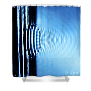 Focusing Water Waves Shower Curtain