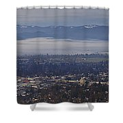 Fog Over A Grants Pass Morning Shower Curtain