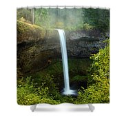 Fog Over The Falls Shower Curtain