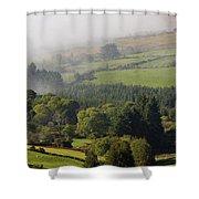 Fog Rolling Into Nire Valley Clonmel Shower Curtain