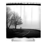 Foggy Day H-2 Shower Curtain
