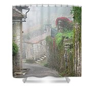 Foggy Lane In St Cirq Shower Curtain