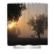 Foggy Morn Street Shower Curtain