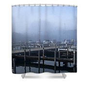 Foggy Morning In Door County Shower Curtain
