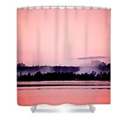 Foggy Pink Morning Shower Curtain