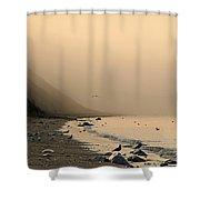 Foggy Shores Shower Curtain