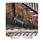 Folding Bicycle Antigua Shower Curtain