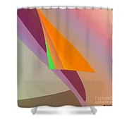 Folds Shower Curtain by ME Kozdron