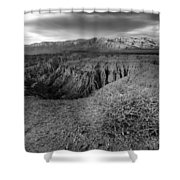Font's Point Bush   Black And White Shower Curtain