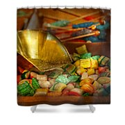 Food - Candy - One Scoop Of Candy Please  Shower Curtain