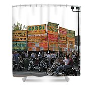Food Selection In Sturgis Shower Curtain