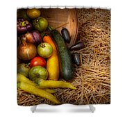 Food - Vegetables - Very Early Harvest Shower Curtain